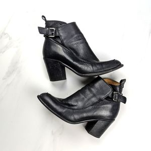 Zara buckled bootie ankle boot black